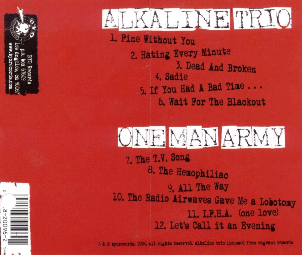 Alkaline trio fine without you