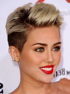 Naked short haired miley cyrus