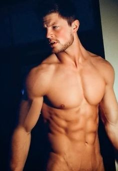 Hot naked stud with abs