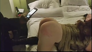 Amateur wife spanked by black bull
