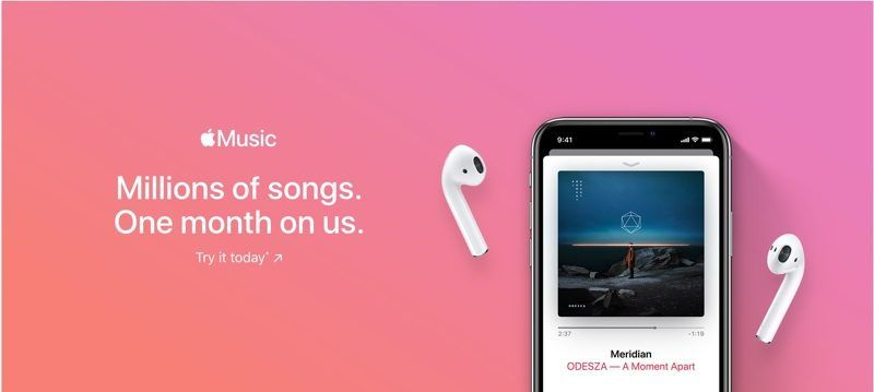 Try apple music free 3 months