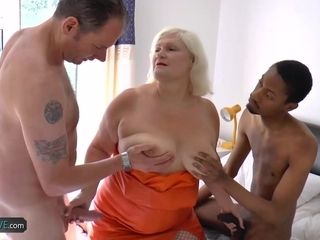 Granny anal group sex