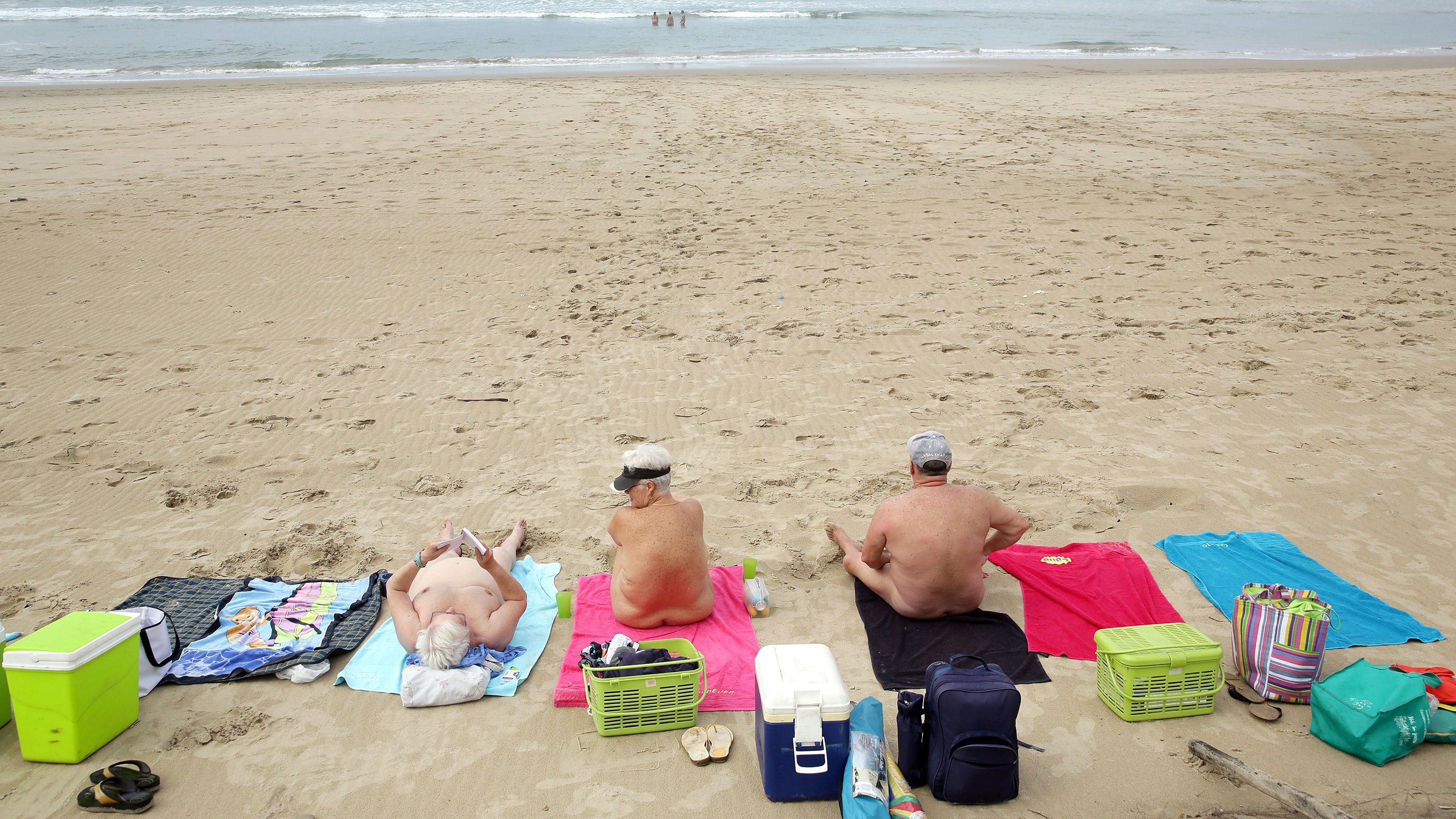 Mexican nudist family